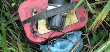 ウズラを引き寄せるために使われる違法な電子機器写真提供:BPSSS(セルビアのバードライフ・パートナー)