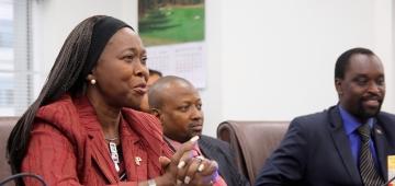 リベリア共和国のヤンゴー・セベリー・テレウォダ大使 写真提供:岩渕翼